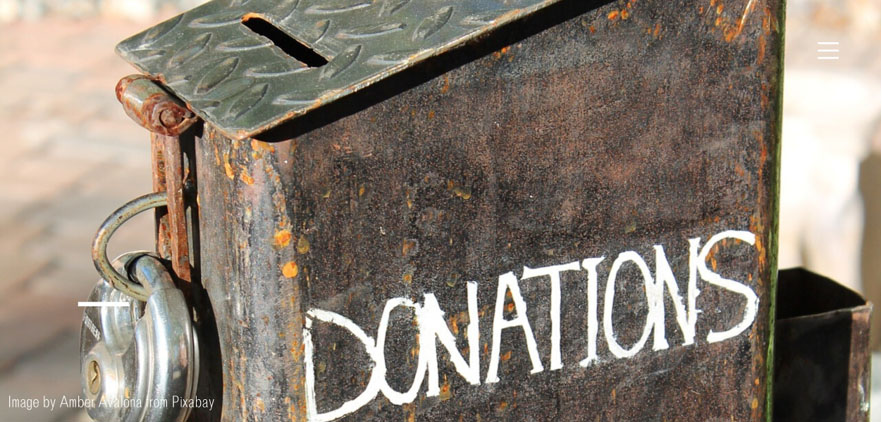contactless donations technology